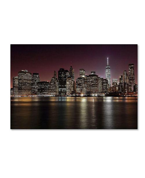"Trademark Global Nicolas Merino 'Nyc Skyline' Canvas Art - 47"" x 30"" x 2"""