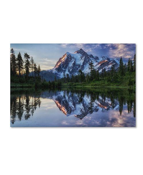 "Trademark Global James K Papp 'Sunrise On Mount Shuksan' Canvas Art - 32"" x 22"" x 2"""