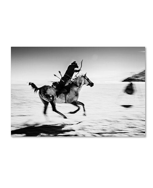 "Trademark Global Murat Yilmaz 'Horseman' Canvas Art - 24"" x 16"" x 2"""