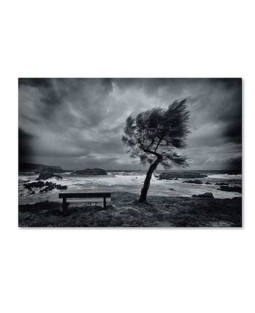 """Trademark Global Mikel Lastra 'Today No One' Canvas Art - 32"""" x 22"""" x 2"""""""
