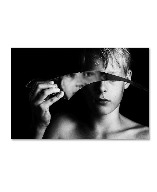 "Trademark Global Mirjam Delrue 'Changing Face' Canvas Art - 19"" x 12"" x 2"""
