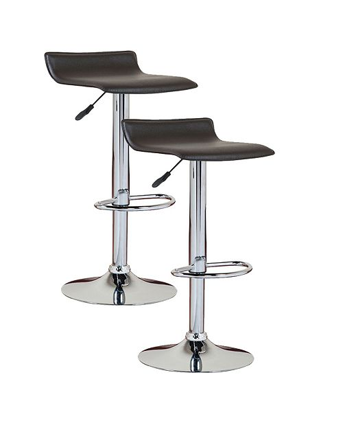 Leick Home Favorite Finds Black Adjustable Swivel Barstool-Set of 2