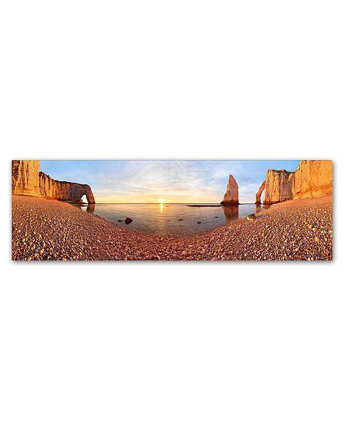 "Trademark Global Valeriy Shcherbina 'Sunset In A Tretat' Canvas Art - 19"" x 6"" x 2"""