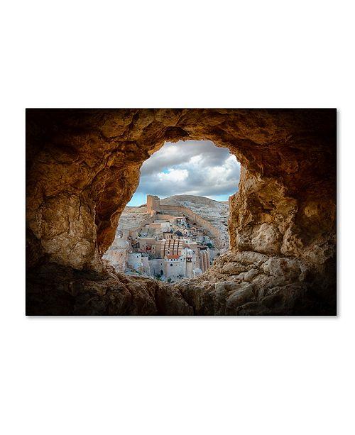 "Trademark Global Ido Meirovich 'A Hole In The Wall' Canvas Art - 47"" x 30"" x 2"""