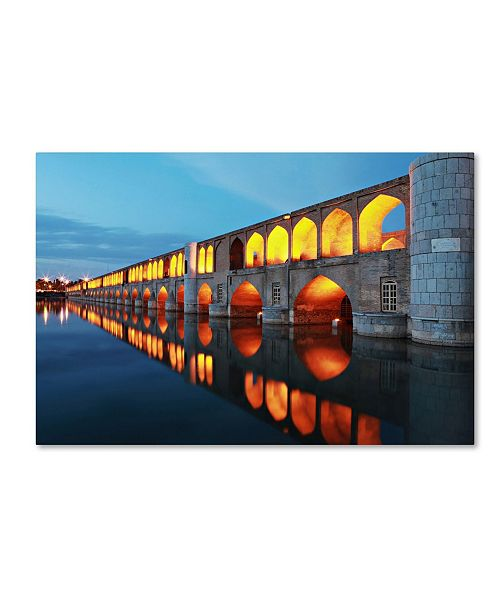 "Trademark Global Mohammadreza Momeni '33 Pol' Canvas Art - 24"" x 16"" x 2"""