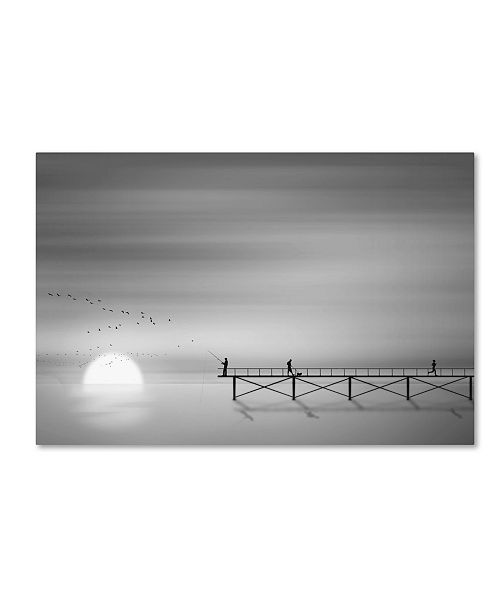 "Trademark Innovations Octyee 'Melody Of Twilight' Canvas Art - 19"" x 12"" x 2"""