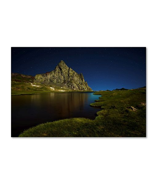 "Trademark Global David Martin Castan 'Glacier Anayet' Canvas Art - 19"" x 12"" x 2"""