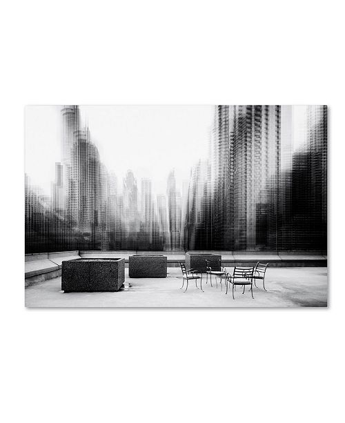 "Trademark Global Roswitha Schleicher Schwarz 'The Terrace' Canvas Art - 32"" x 22"" x 2"""