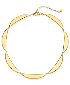 "Kate Spade New York  Gold-Tone Scalloped 14-1/2"" Choker Necklace"