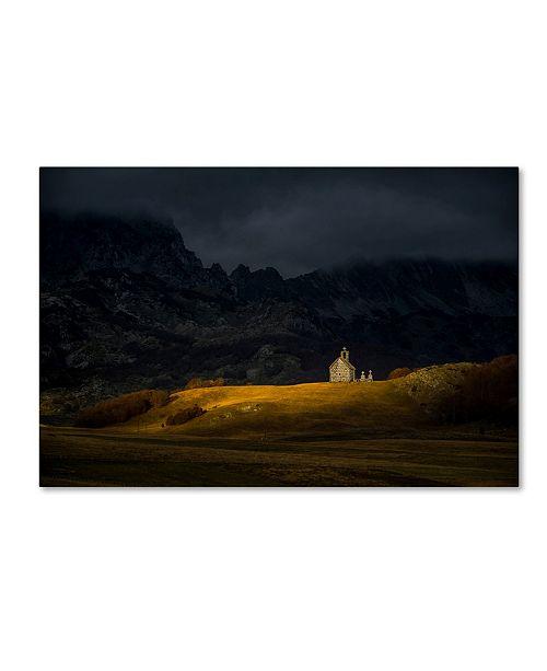 "Trademark Global Dejan Dajkovic 'Mountain Church' Canvas Art - 19"" x 12"" x 2"""