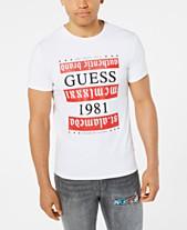ced2751958a GUESS Men s Gothic Stripe Logo Graphic T-Shirt