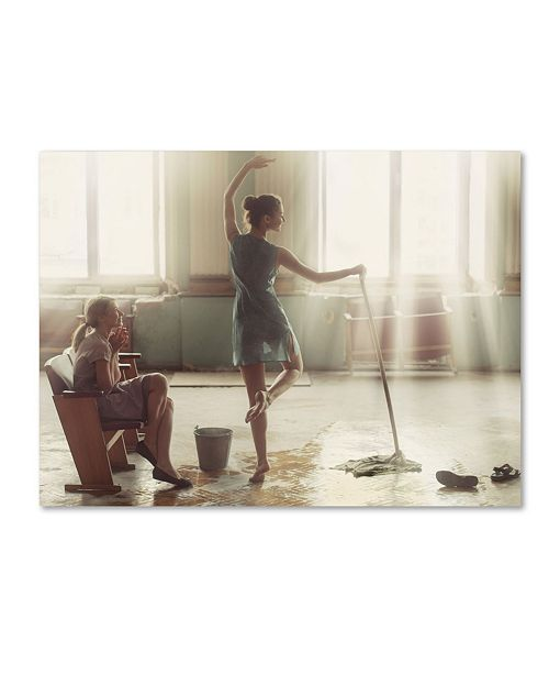 "Trademark Global David Dubnitskiy 'Cleaning Day' Canvas Art - 19"" x 14"" x 2"""