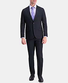 Haggar Men's Active Series Slim-Fit Stretch Moisture-Wicking Herringbone Suit Separates