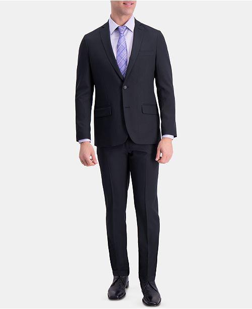 Haggar  Men's Active Series Slim-Fit Stretch Moisture-Wicking Herringbone Suit Separates