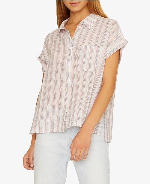 Sanctuary Modern Boyfriend Striped Button-Up Shirt