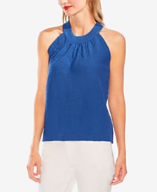 Vince Camuto Halter-Neck Sweater Tank