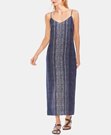 Vince Camuto Printed Slip Maxi Dress