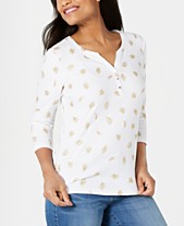 3dfbf681 Karen Scott Printed Henley Top, Created for Macy's. Quickview. 3 colors