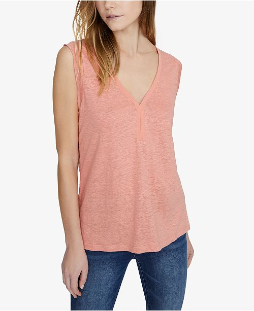 Sanctuary Laura V-Neck Solid T-Shirt