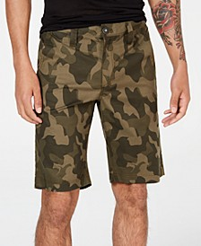 "INC Men's 10"" Chambray Camo Shorts, Created for Macy's"