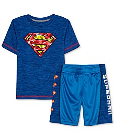 Little Boys Superman 2-Pc. T-Shirt & Shorts Set
