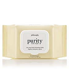 Purity Made Simple One-Step Facial Cleansing Cloths, 30-Pc.
