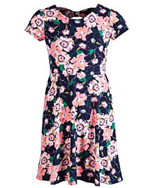 Big Girls Floral-Print Bow Dress, Created for Macy's
