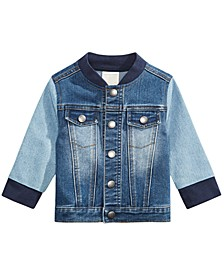 Baby Boys Colorblocked Denim Jacket, Created for Macy's