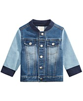 710a2ee4 First Impressions Baby Boys Colorblocked Denim Jacket, Created for Macy's