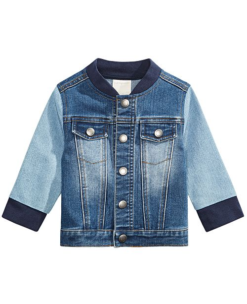 First Impressions Baby Boys Colorblocked Denim Jacket, Created for Macy's