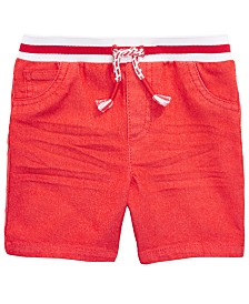 First Impressions Baby Boys Striped Waist Denim Shorts, Created for Macy's