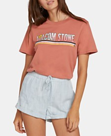 Volcom Juniors' Cotton Graphic-Print Boyfriend T-Shirt