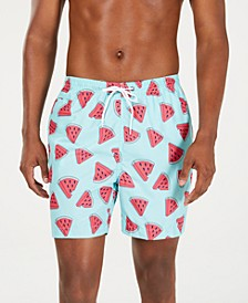 "Men's Watermelon-Print 6"" Swim Trunks"