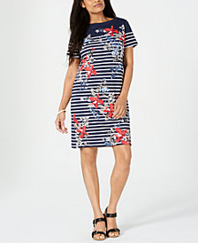 Karen Scott Liberty Garden Printed Dress, Created for Macy's