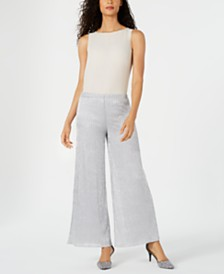 MSK Striped Metallic Palazzo Pants