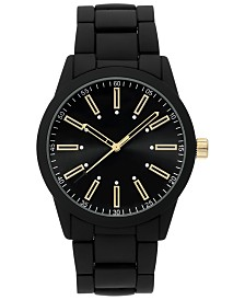 I.N.C. Men's Black Matte Bracelet Watch 44mm, Created for Macy's