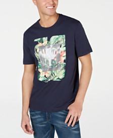 Michael Kors Men's Palm Logo Graphic T-Shirt, Created for Macy's
