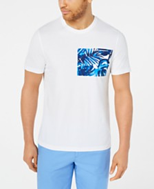Michael Kors Men's Palm-Print Pocket T-Shirt