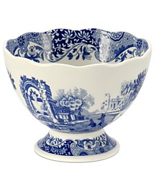 Dinnerware, Blue Italian Footed Bowl