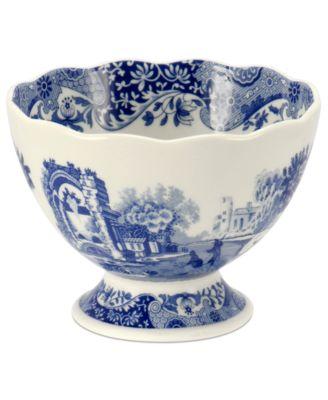 Spode Dinnerware Blue Italian Footed Bowl  sc 1 st  Macy\u0027s & Spode Dinnerware Blue Italian Footed Bowl - Serveware - Dining ...