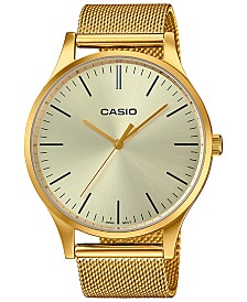Casio Women's Gold-Tone Stainless Steel Mesh Bracelet Watch 38mm