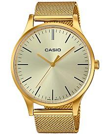 Casio Women's Gold-Tone Stainless Steel Mesh Bracelet Watch 38mm