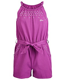GUESS Big Girls Studded Cotton Romper