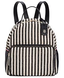 Julia Lurex Straw Backpack