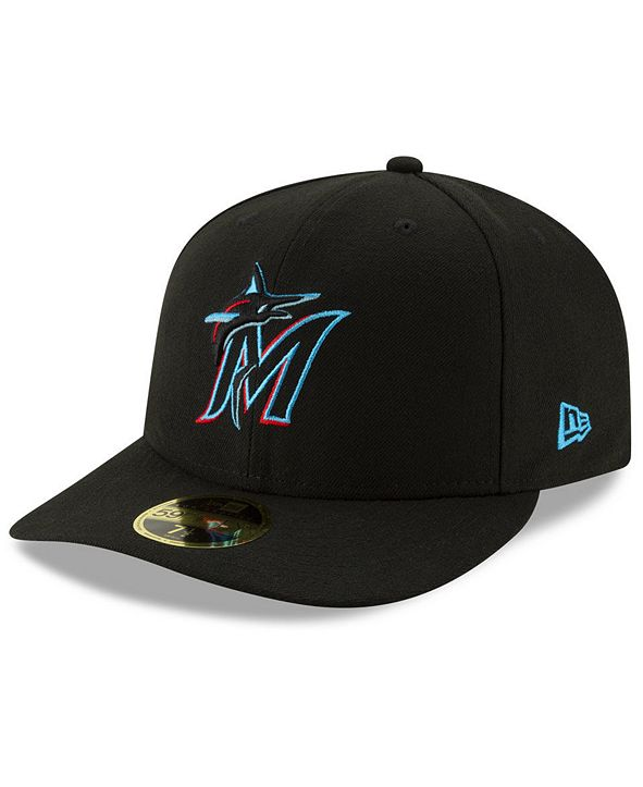 New Era Miami Marlins Low Profile AC Performance 59FIFTY Fitted Cap