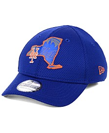 New Era Big Boys New York Mets State Flective 2.0 39THIRTY Stretch Fitted Cap