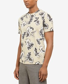 Kenneth Cole New York Men's Tropical Leaves Graphic T-Shirt