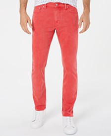 Michael Kors Men's Parker Slim-Fit Stretch Overdyed Jeans, Created for Macy's