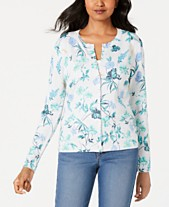 b0f98a5e Charter Club Petite Floral-Print Cardigan, Created for Macy's