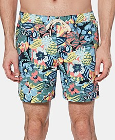 "Original Penguin Men's 6"" Floral Swim Trunks"